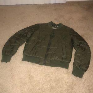 Army Green Bomber Coat